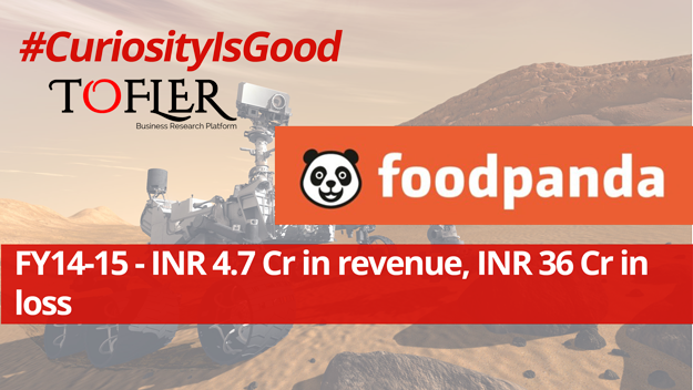 Foodpanda INR 4.7 Cr in revenue, INR 36 Cr in loss in FY 14-15 | Tofler #CuriosityIsGood