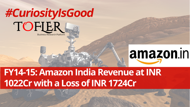 Amazon India Revenue at INR 1022 Cr with a loss of INR 1724 Cr | Tofler