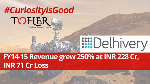 Delhivery revenue growth 250% at INR 228 Cr loss INR 71 cr by Tofler
