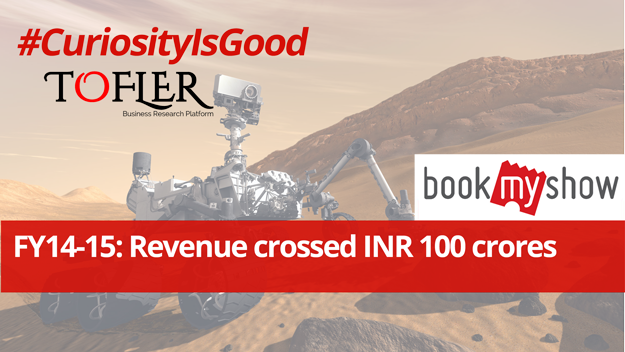 Bookmyshow revenue crossed INR 100 crores | Tofler