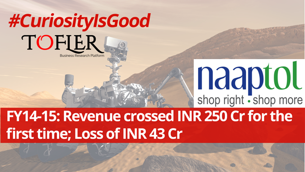Naaptolrevenue crossed INR 250 crores in FY 15 reports Tofler